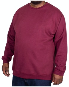 Bigdude Essentials Jumper Burgundy Tall
