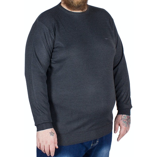 D555 Medwin Plain Crew Neck Sweater Charcoal