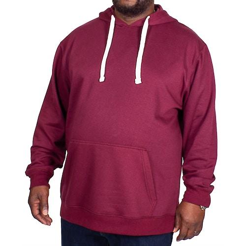 Bigdude Essentials Kapuzenpullover Weinrot Tall Fit