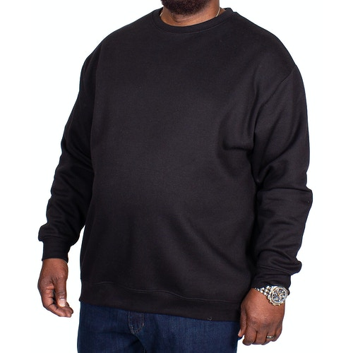 Bigdude Essentials Pullover Schwarz Tall Fit