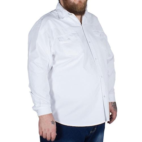 KAM Long Sleeve Denim Shirt White