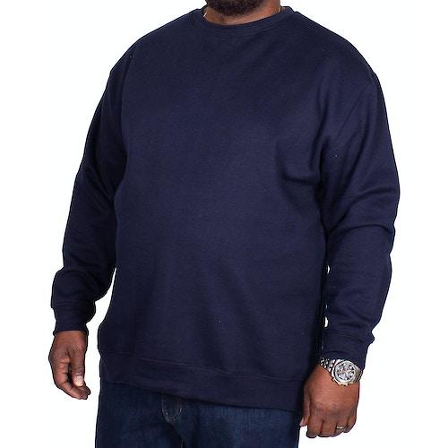 Bigdude Essentials Pullover Marineblau Tall Fit