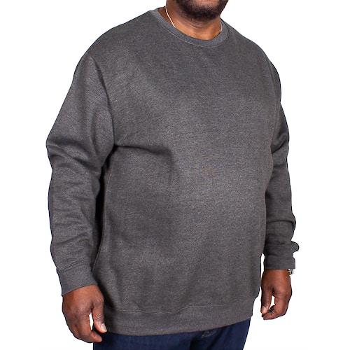 Bigdude Essentials Pullover Grau Tall Fit