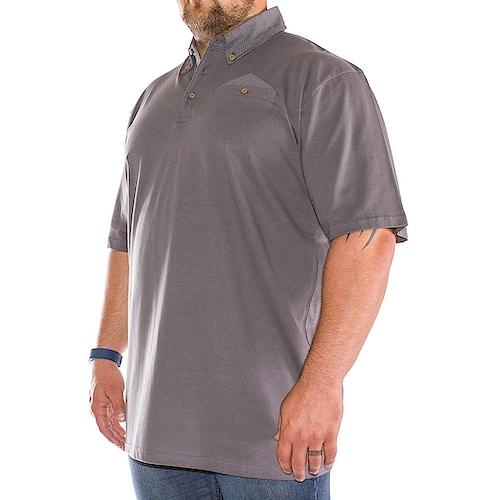 Bigdude Polka Dot Polo Shirt Graphite