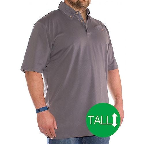 Bigdude Polka Dot Polo Shirt Graphite - Tall
