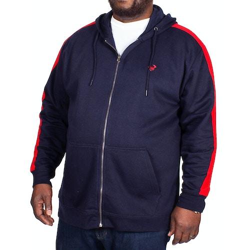 Bigdude Overarm Stripe Hoody Navy Tall