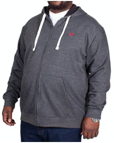 Bigdude Fleece Full Zip Hoody Charcoal Tall