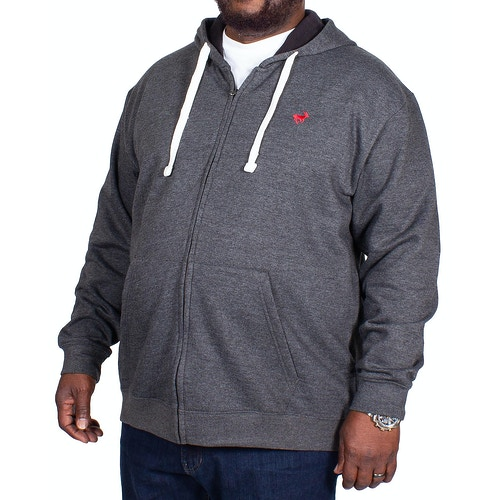 Bigdude Fleece Full Zip Hoody Charcoal Tall