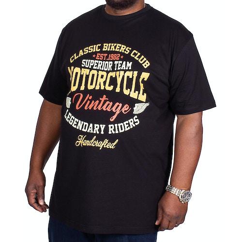 Espionage Motorcycle Print T-Shirt Black