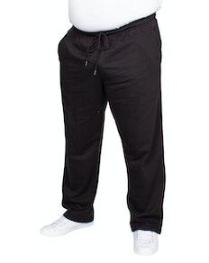 Bigdude Open Hem Joggers Black