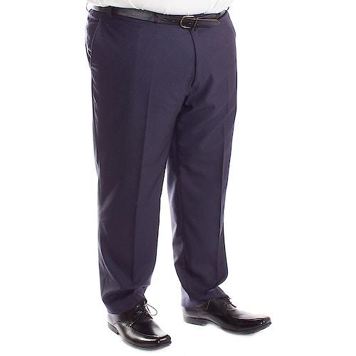 Carabou Durapress Formal Trousers Navy