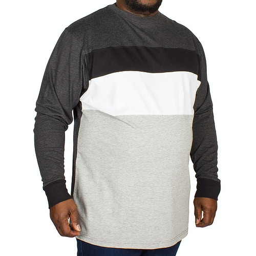 Kam Cut and Sew Long sleeve T-shirt Charcoal