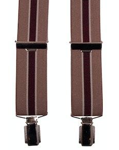 John King Extra Long Braces Beige Stripe