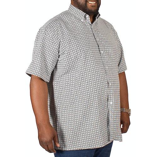 Fitzgerald Rocky Dogtooth Print Shirt Grey