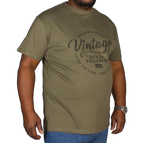 Replika Vintage Print T-Shirt Green