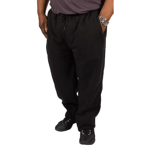 KAM Casual Jog Bottoms Black Extra Tall