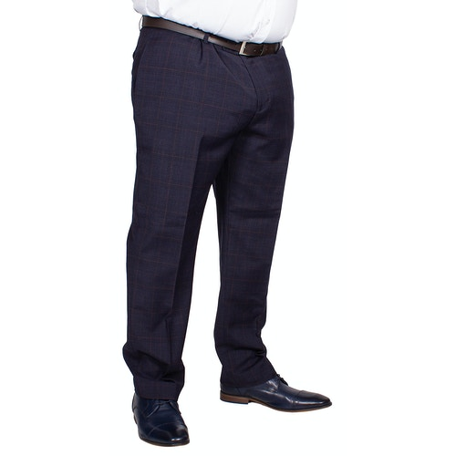 Skopes Hayling Check Trousers Navy