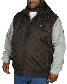 D555 Steppjacke Willie Schwarz