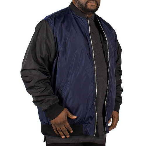 D555 Louis Lined Bomber Jacket - Navy