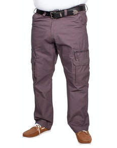 KAM Relaxed Fit Cargo Trousers Charcoal