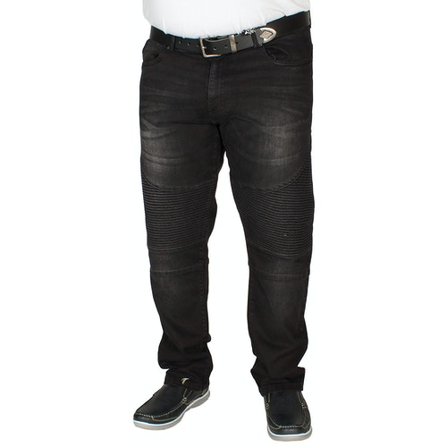 D555 Biker Jeans Milo Vintage Schwarz