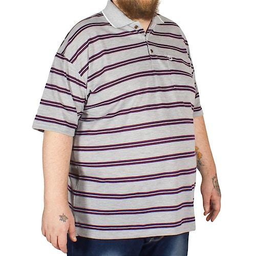 Brooklyn James Stripe Polo Shirt Plum