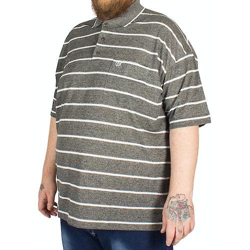 Brooklyn Gabriel Stripe Polo Shirt Black