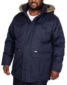 Bigdude Full Zip Parka Coat Navy