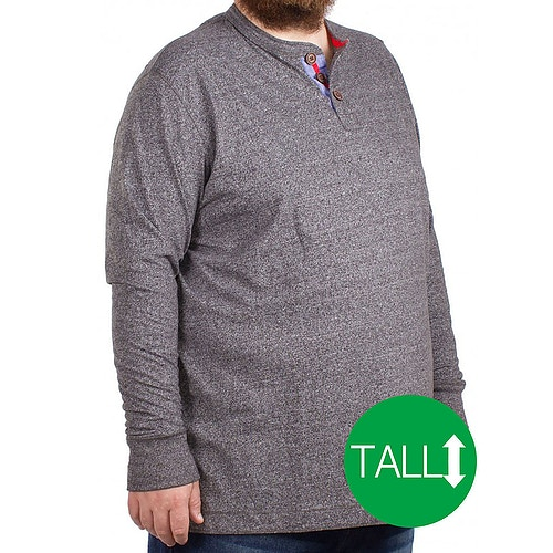 D555 Davy Long Sleeved T-Shirt Grey - Tall