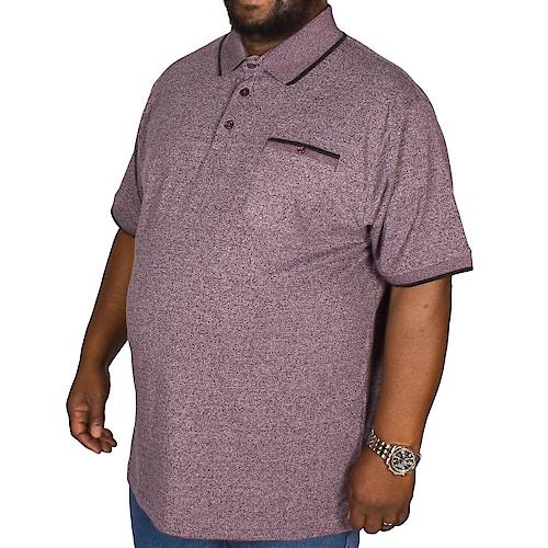 Espionage Jersey Marl Polo Shirt Grape
