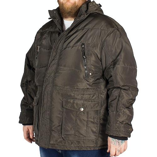 KAM Long Padded Coat Brown