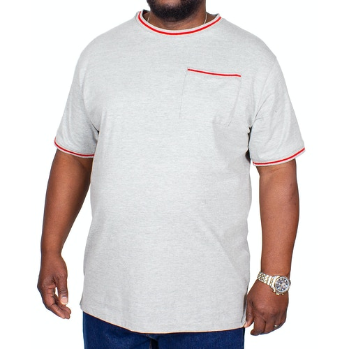 Bigdude Contrast Edge T-Shirt Grey