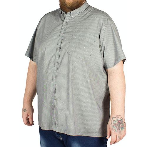 Bigdude Short Sleeve Stripe and Circle Print Shirt Black
