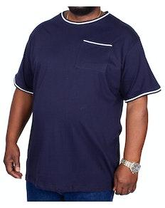 Bigdude T-Shirt mit Brusttasche Dunkelblau
