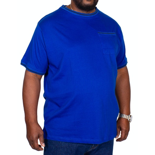 Bigdude T-Shirt mit Brusttasche Königsblau
