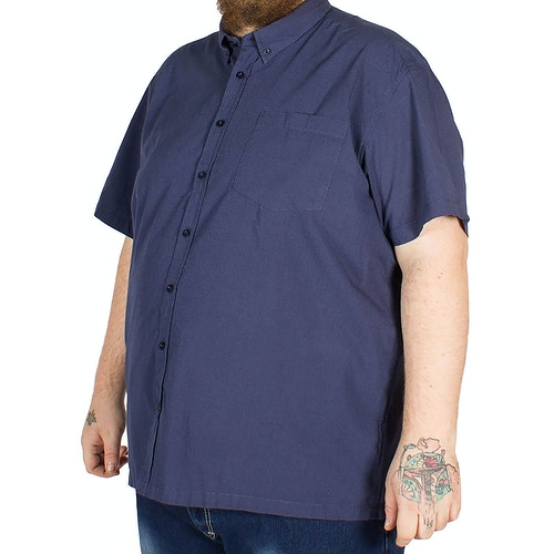 Bigdude Dot Pattern Short Sleeve Shirt Navy