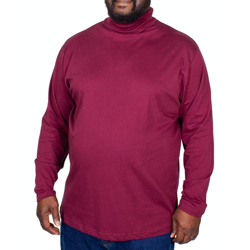 Bigdude Roll Neck Top Burgundy