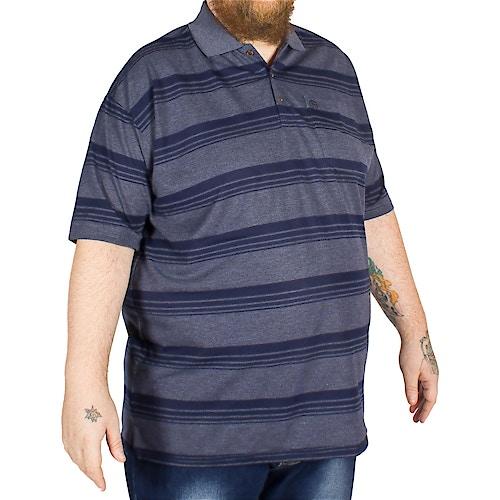 Brooklyn Andre Stripe Polo Shirt Navy