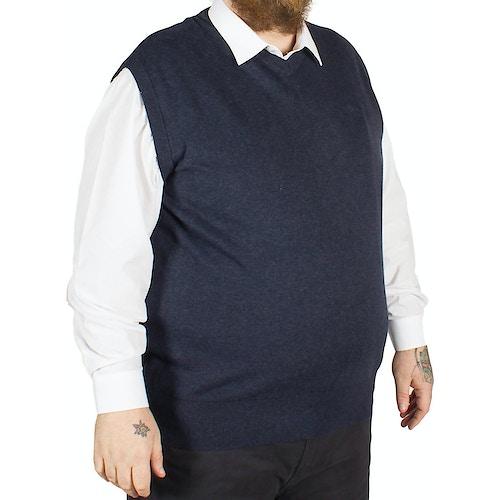KAM V-Neck Sleeveless Knitted Pullover Denim