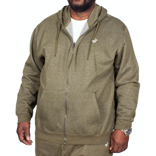 Bigdude Marl Full Zip Hoody Khaki Tall