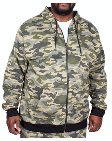 Bigdude Camouflage Kapuzenjacke Khaki Tall Fit