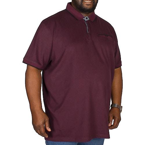 D555 Johan Fine Stripe Polo Shirt Burgundy