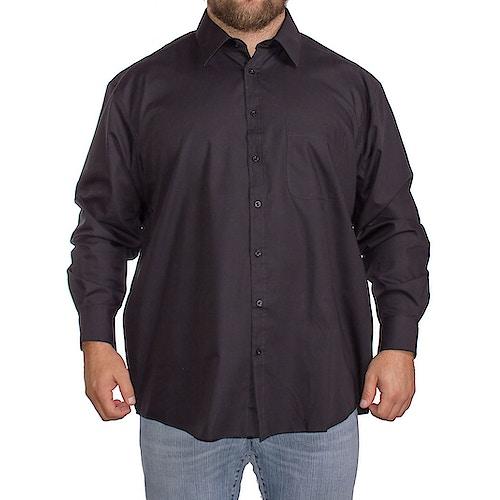 Espionage Klasssiches Einfarbiges Langarmhemd