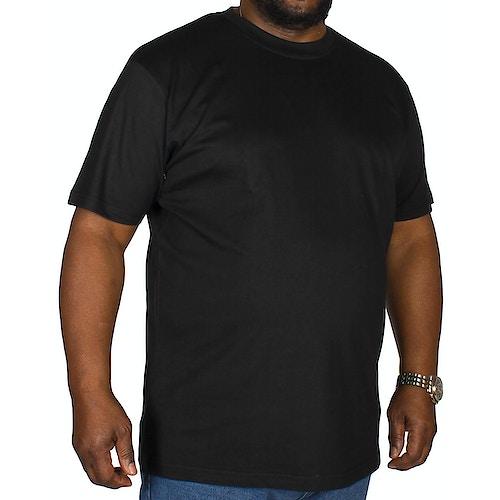 Bigdude Plain Crew Neck T-Shirt- Black