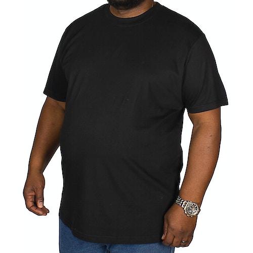 Bigdude T-Shirt mit Rundhalsausschnitt Schwarz Tall Fit