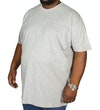 einfarbiges TShirt mit Rundhalsausschnitt  Grau