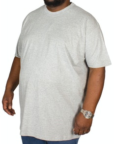 Bigdude Plain Crew Neck T-Shirt- Grey