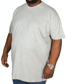Bigdude einfarbiges T-Shirt mit Rundhalsausschnitt - Grau