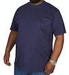 einfarbiges TShirt mit Rundhalsausschnitt  Dunkelblau