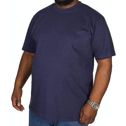 Bigdude einfarbiges T-Shirt mit Rundhalsausschnitt - Dunkelblau